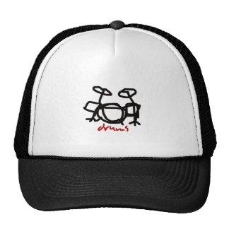 black rock drums ~ drummer trucker hat