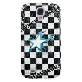 Black Rock Shooter checker Galaxy S4 Case