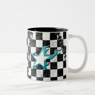 Black Rock Shooter grunge checker mug