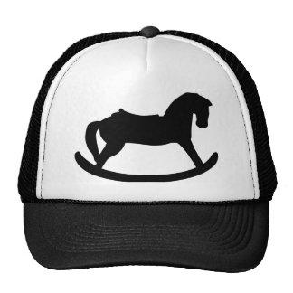 Black rocking horse hat