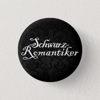 Black romantic (black) pinback button