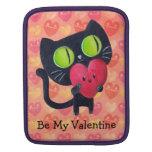 Black Romantic Cat iPad Sleeve