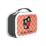 Black Romantic Cat Lunchboxes