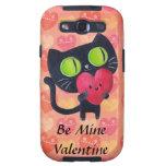 Black Romantic Cat Samsung Galaxy SIII Cover