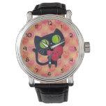 Black Romantic Cat Wrist Watches