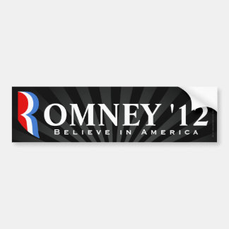 Black Romney 2012, Believe in America Decal Bumper Sticker