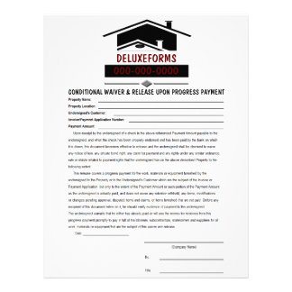 Black Roof Conditional Waiver & Release Payment Letterhead