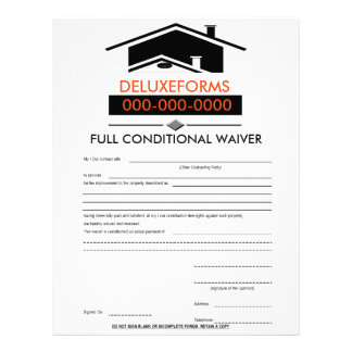 Black Roof Full Conditional Waiver Form Letterhead