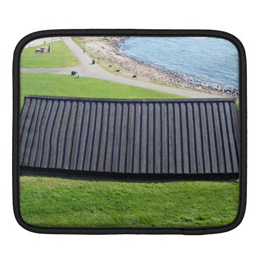 Black Rooftop In A Grassy Landscape iPad Sleeve