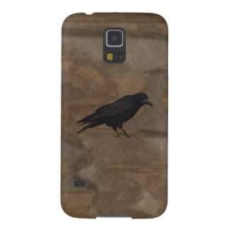 Black Rook British Corvid and Rustic Background Galaxy S5 Cover