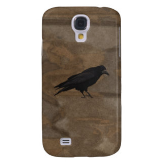 Black Rook British Corvid and Rustic Background Samsung Galaxy S4 Cover