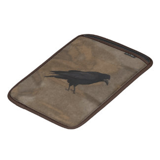 Black Rook British Corvid and Rustic Background Sleeve For iPads