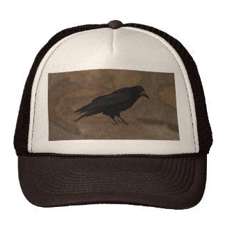 Black Rook British Corvid and Rustic Background Trucker Hat