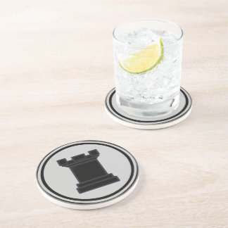 Black Rook Chess Piece Drink Coasters