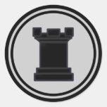 Black Rook Chess Piece Sticker