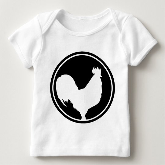 black rooster icon baby T-Shirt