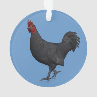Black Rooster Ornament