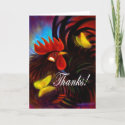 Chicken & Rooster Thank You Note Cards