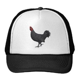 Black Rooster Trucker Hat