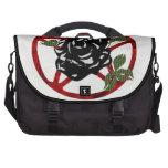 Black Rose and Pentagram Bag For Laptop