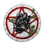 Black Rose and Pentagram Dart Board