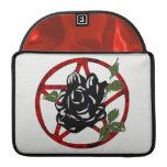 Black Rose and Pentagram Sleeves For MacBook Pro