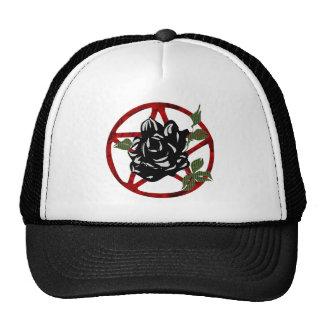 Black Rose and Pentagram Trucker Hat