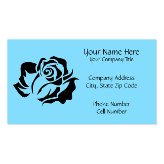 Black Rose Bloom Customizable Business Card