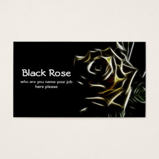 black rose business card