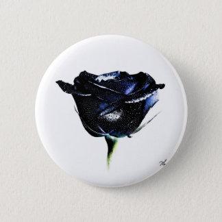 Black Rose Button