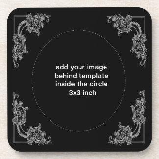 Black  rose by artD design Drink Coaster