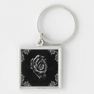 Black  rose by artD design Keychain