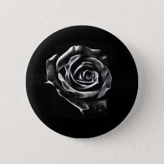 Black rose clasic design pinback button
