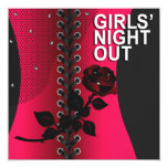 Black Rose Corset Girls Night Out | coral Card