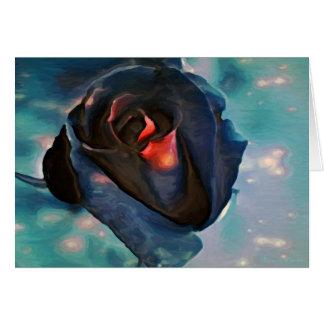 Black Rose Custom Greeting Cards