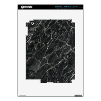 Black Rose Decorative Stone - Veins & Character Decal For iPad 3