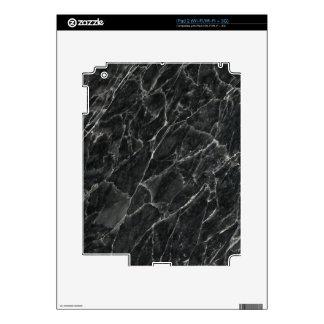 Black Rose Decorative Stone - Veins & Character iPad 2 Skins