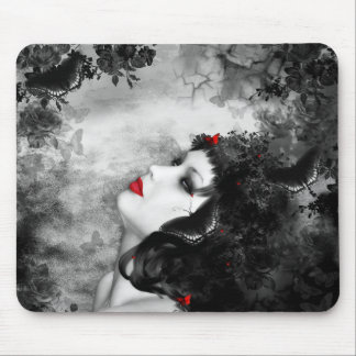 Black Rose Fantasy Mouse Pad
