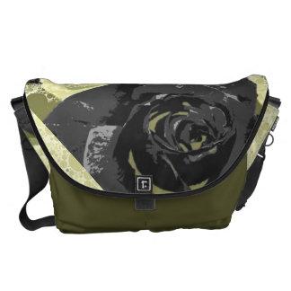 Black Rose Garden Messenger Bag
