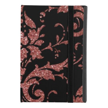 Black & Rose Gold Damask iPad Mini 4 Case