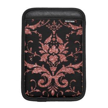 Black & Rose Gold Damask iPad Mini Sleeve