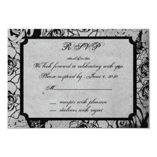 Black Rose Gothic Frame Response Card