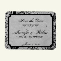 Black Rose Gothic Frame Save the Date Magnet