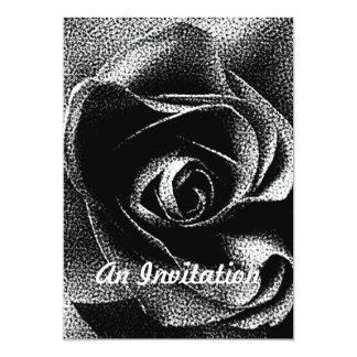 "BLACK ROSE 5"" X 7"" INVITATION CARD"