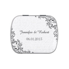 Black Rose Love Letter Wedding Tins Candy Tin at Zazzle