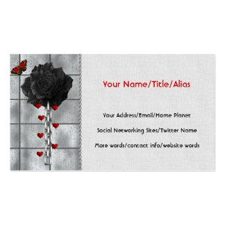 Black Rose Of Love Business Card