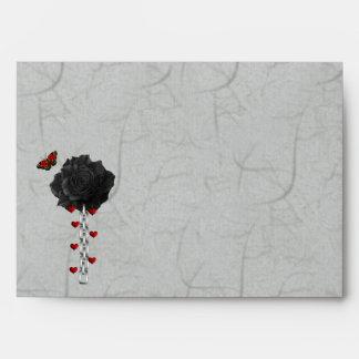Black Rose Of Love Envelope