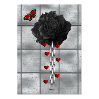 Black Rose Of Love Large Business Card