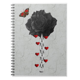 Black Rose Of Love Journals