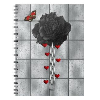 Black Rose Of Love Spiral Notebook